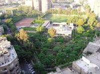 The view of the park from the roof of the Cairo Pharaoh Egypt Hote