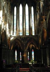Interior Glasgow Cathedral in Scotland.
