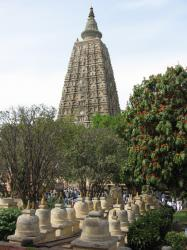 The Mahabodhi Tempel in Bodh Gaya, India
