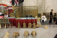 Before the show the musical instruments on Saung Angklung Udjo